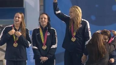 Oro y récord panamericano (4m01s) para Estados Unidos. Canadá gana la plata y Brasil se queda con el bronce