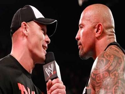 Tensión fuera del ring entre John Cena y The Rock