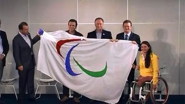 La bandera paral&#237;mpica llega a R&#237;o de Janeiro