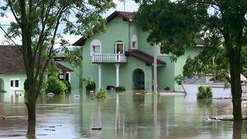 Cientos de evacuados por las inundaciones en Croacia