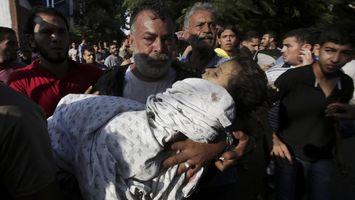 Mueren ocho ni�os en campo de refugiados de Gaza