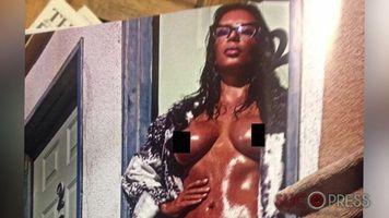 Kim Kardashian sin pudor, as� su desnudo frontal