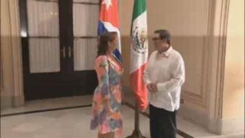 """""""Con relaciones renovadas"""" cancilleres de M�xico y Cuba se re�nen"""