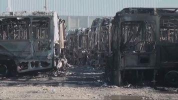 Autoridades en M�xico investigan la quema de casi 50 autobuses