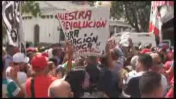 Simpatizantes pol�ticos venezolanos viven con euforia