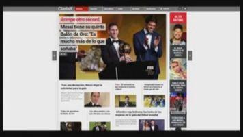 En Argentina celebran el quinto Bal�n de Oro ganado por Messi