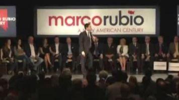 Marco Rubio busca el respaldo de sus seguidores en Las Vegas