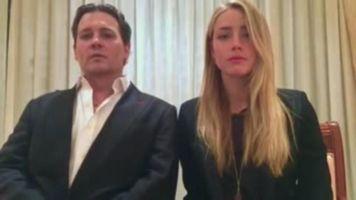 Amber Heard, la esposa de Johnny Depp, recibe una leve pena
